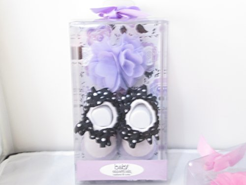 Baby Essentials Headband and Socks Purple