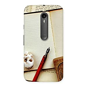 Premium Little Diary Multicolor Back Case Cover for Moto G3
