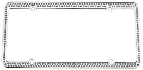 License 2 Bling L2B-256-Cr-Ice Genuine 256 Series Chrome License Plate Frame With Ice Swarovski Crystals