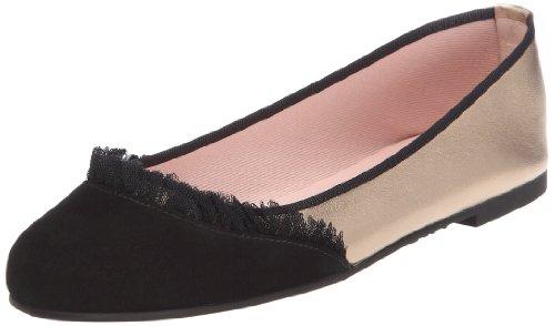 Pretty Ballerinas  41025,  Ballerine donna, Beige (Beige (Noir / Platine (Angelis Negro / Ami Nude))), 36 EU