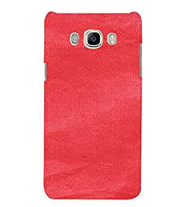 PrintVisa Red Canvas Paper Design 3D Hard Polycarbonate Designer Back Case Cover for Samsung Galaxy On8