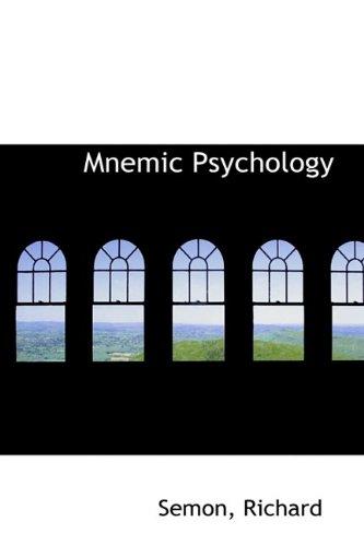 Mnemic Psychology