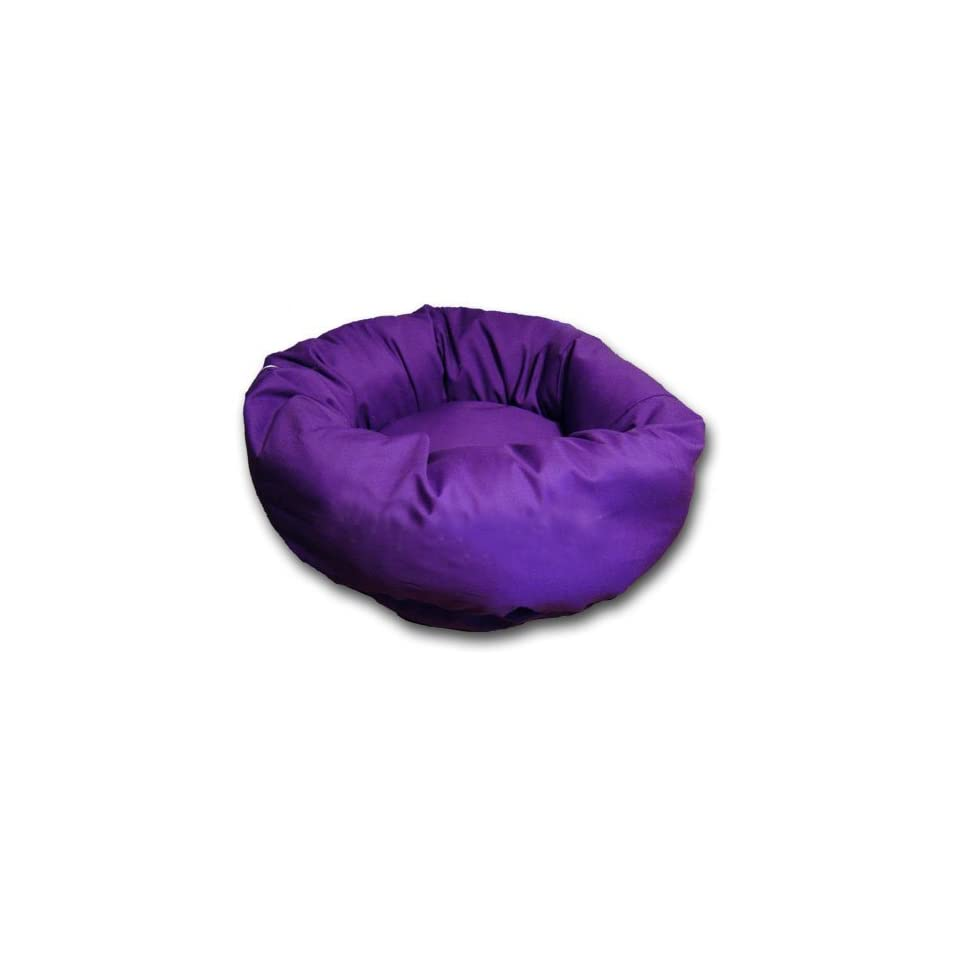 Extra Small Classic Washable Dog Puppy Pet Cuddler Bed Purple