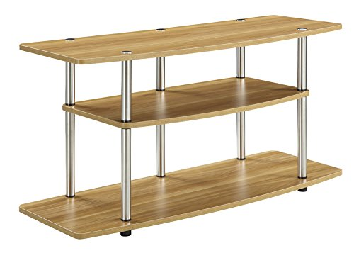 Convenience Concepts Designs2Go 3-Tier Wide TV Stand, Light Oak (Oak Pedestal compare prices)