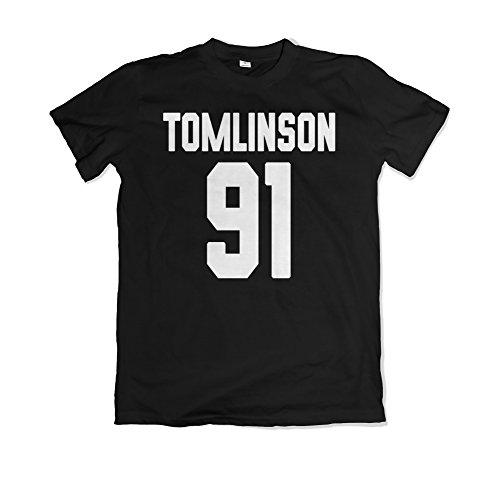 Louis Tomlinson / Tomlinson 91 / One Direction Merch / Magliette / T-shirt / MS20 (S, Nero)