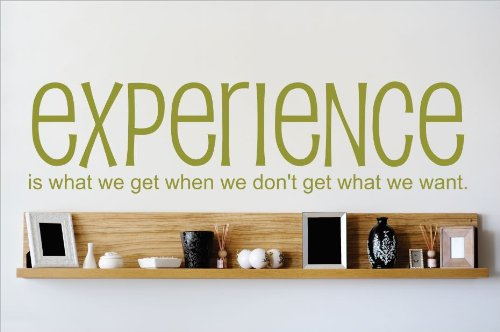 Design with Vinyl OMG 649 (2) As Seen Experience is What We Get When We Don't Get What We Want Quote Lettering Decal Home Decor Kitchen Living Room, 10-Inch x 40-Inch
