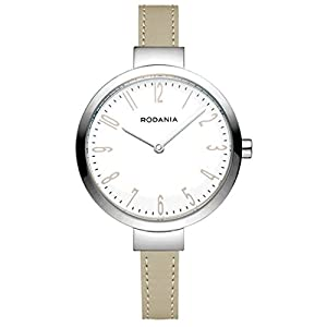 RODANIA 26088-25 33mm Stainless Steel Case Beige Calfskin Mineral Women's Watch