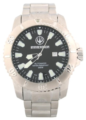 Immersion IM8512 Gents Watch Automatic Analogue Black Dial Grey Steel Strap