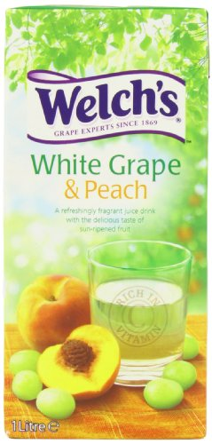 Welch?s White Grape and Peach Juice Drink 1 Litre (Pack of 12)