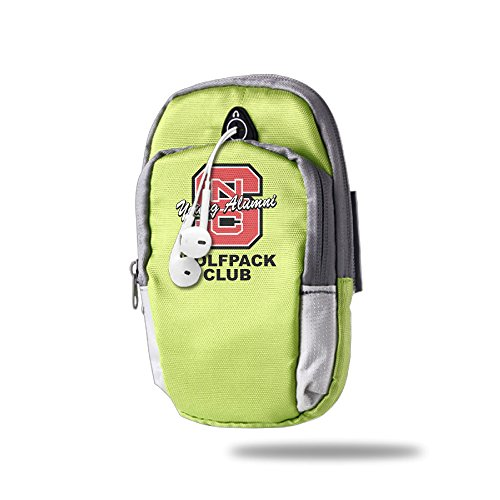 NC State Wolfpack Convenient Unisex Outdoor Portable Sports Running Arm Bags KellyGreen (Nv Wolf Pack compare prices)