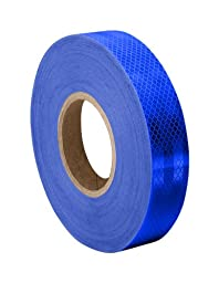 TapeCase Blue Micro Prismatic Sheeting Reflective Tape Converted from 3M 3435, 0.94\