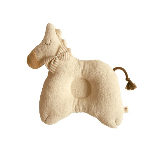 100% Organic Cotton Baby Prevent Flat Head, Horse Style Pillow front-679187