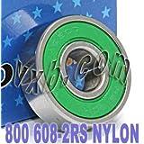 800 Skateboard in-line Skate Bearing Nylon Cage Sealed Ball Bearings by VXB