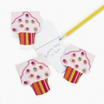 12 Piece Cupcake Jewels Notepad Party Favor Set