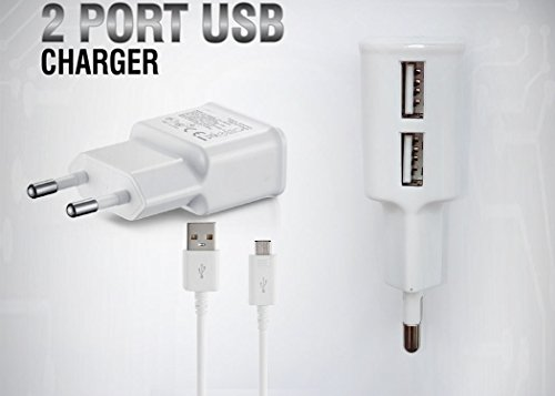 RAGE Optima Smart Swift Android Charger Dual USB AC Power Charger