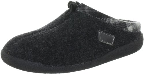 Hans Herrmann Collection HHC Slippers Unisex-Adult Black Schwarz (antracite/karo) Size: 46