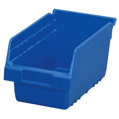 Images for Akro-Mils 30090 ShelfMax Plastic Nesting Shelf Bin Box, 12-Inch Length x 6-Inch Width x 6-Inch Height, Case of 10, Blue