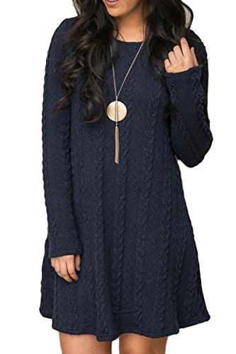 Mulisky Women Ladies Long Sleeve Slim Knitted Sweater Mini Party Dress Casual M
