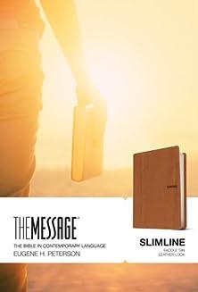 The Message Slimline lthrlok saddle tan