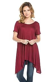 Frumos Womens Short Sleeve Comfy Loos…