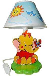 tischlampe lampe stehlampe tischleuchte kinder kinderzimmer holz elefant 32cm spielzeug. Black Bedroom Furniture Sets. Home Design Ideas