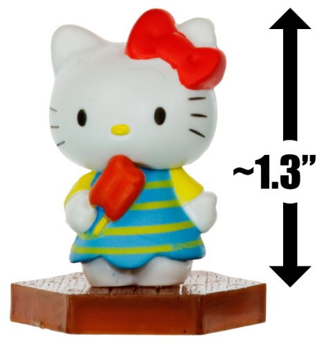 "Hello Kitty Eating Popsicle ~1.3"": Hello Kitty Mini-Figure Collection Series #1 - 1"