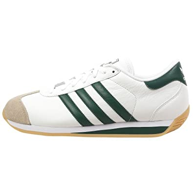 Amazon.com: adidas Originals Men's Country II Sneaker,White/Green/Gum