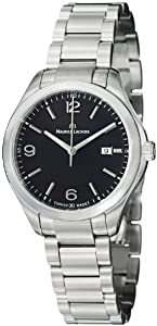 Maurice Lacroix Miros Date Black Dial Stainless Steel Ladies Watch MI1014-SS002330