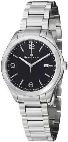 Maurice Lacroix Miros Ladies Black Dial Stainless Steel Watch MI1014-SS002-330
