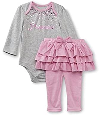 Baby Girl's Glam Long Sleeve Bodysuit & Tutu Skirted Leggings Set