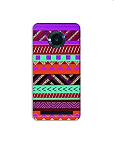 Micromax Yuphoria nkt02 (43) Mobile Case by Mott2 - Tribal Colorful Pattern (Limited Time Offers,Please Check the Details Below)