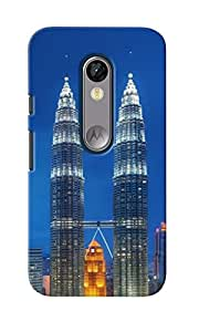 KnapCase Twin Towers Designer 3D Printed Case Cover For Motorola Moto G Turbo Edition