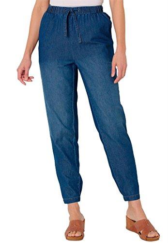 Womens Plus Size Summer Denim Petite Jogger Jeans