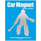 Field Hockey Goalie Car Magnet Chrome
