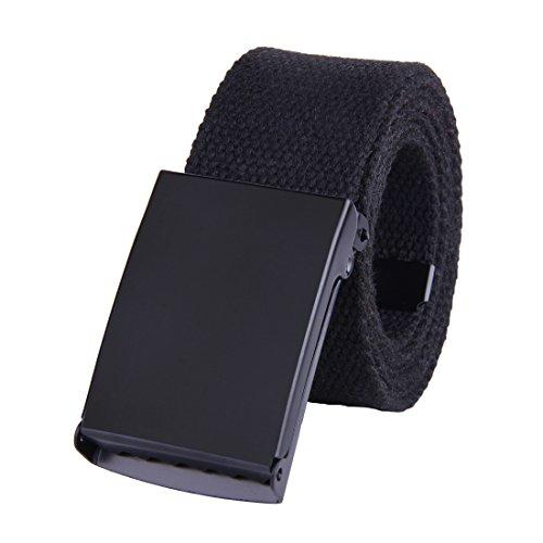 jiniu-canvas-web-belt-military-style-black-buckle-solid-color-51-long-15-wide