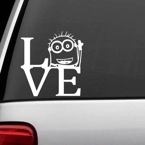 Despicable Me Minion Love Decal Sticker Vinyl for Car Truck Bumper Window Laptop (5.5