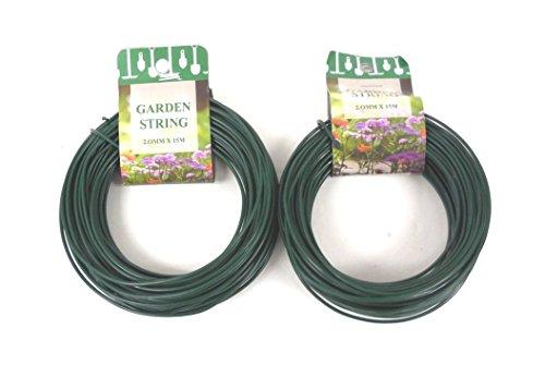 100 Feet Garden Wire Heavy Duty Green Coated Plant Twist Tie Garden Training Wire (Trellis Wire compare prices)