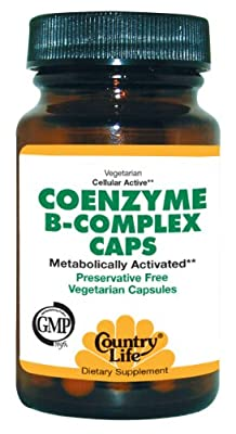Country Life Coenzyme B-Complex Vegetarian, 30 Caps