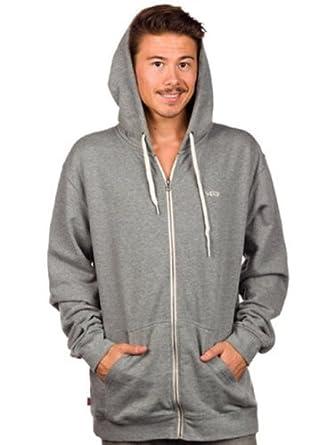 Vans Men's Core Basics Zip II Long Sleeve Hoodie, Grey (Concrete Heather), Small