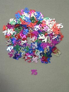 75 Confetti, Multi-Color, 10 mm Size, 1/2 oz Bag (Qty 1 Bag)