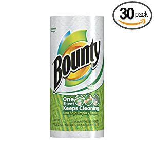 Bounty Regular Roll, White, 1 roll (Pack of 30)