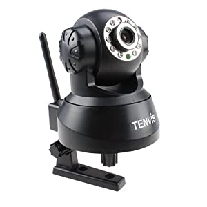 AGPtek® 9-channel TENVIS JPT3815W Wifi IP Pan/Tilt Camera 2-way Radio iPhone Supported