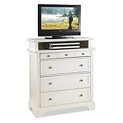 Naples 6 Drawer Media Chest - White from Home Styles