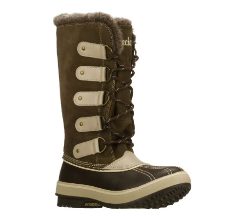 Skechers Highlanders Glaciers Womens Waterproof Boots Brown 6.5