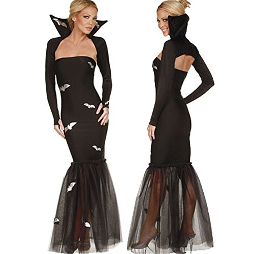 Gloshop Women's Bat Queen Halloween Costume