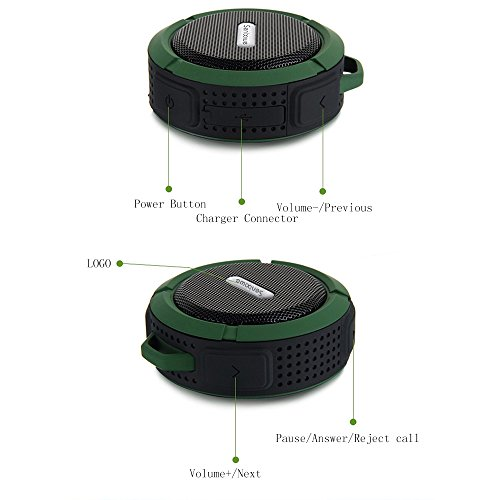 Senbowe™Waterproof Bluetooth 3.0 Wireless Stereo Bluetooth Speaker /Wireless Outdoor Speaker/Shower Speaker with Handsfree,Control Buttons,Dedicated Removable Suction Cup for Showers, Bathroom, Pool, Boat, Car, Beach,Compatible for Apple iPhone 6,6 Plus, soundbot® sb510 hd water resistant bluetooth 3 0 shower speaker handsfree portable speakerphone with built in mic 6hrs of playtime control buttons and dedicated suction cup for showers bathroom pool boat car beach