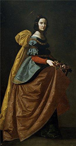the-high-quality-polyster-canvas-of-oil-painting-zurbaran-francisco-de-santa-isabel-de-portugal-ca-1