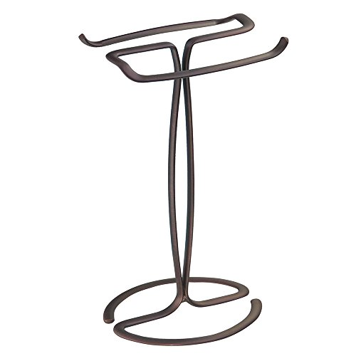 InterDesign Axis - Free Standing Towel Rack for Bathroom Vanities - Bronze - 7.6 x 6.2 x 13.8 inches