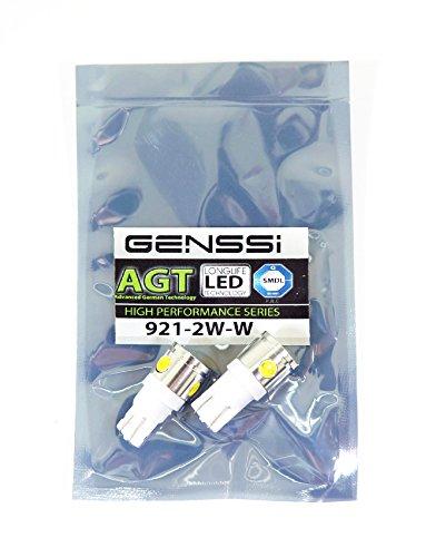 Genssi 921 2W Led Light Bulb White 6000K Backup Reverse T10 (Pack Of 2)