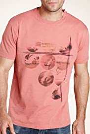 North Coast Pure Cotton Circle Beach Print T-Shirt [T28-3384N-S]